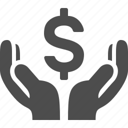 bank, banking, currency, dollars, hand, loan, money icon