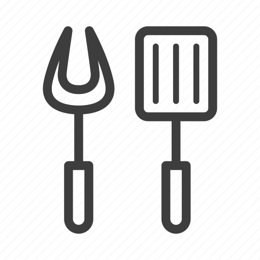 bbq, cooking, fork, spatula, utensils icon