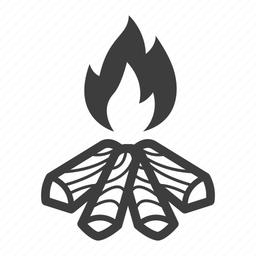 bonfire, camp, campfire, fire icon