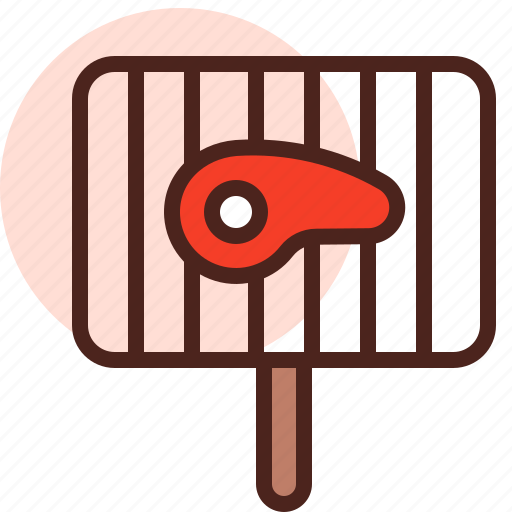 food, grill, meat, on, restaurant icon