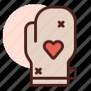 food, grill, mitten, restaurant icon