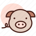 food, grill, pig, restaurant icon