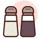 food, grill, restaurant, saltpepper icon