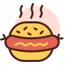 burger, food, grill, restaurant, sausage