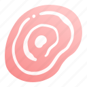 food, fresh, grill, meal, meat, pork, sliced icon
