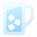 clean, cool, drink, glass, ice, refreshment, water icon