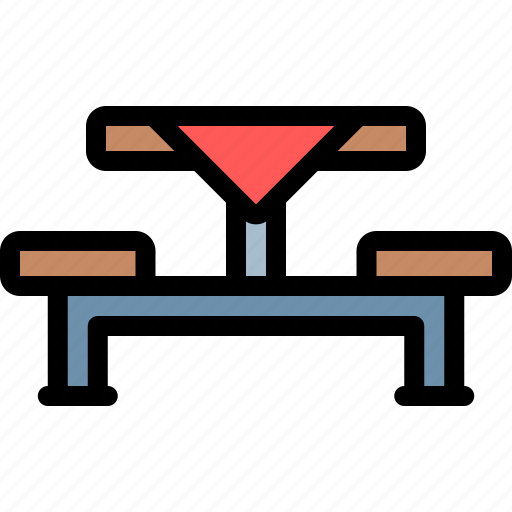 barbecue, bbq, food, party, picnic, table icon