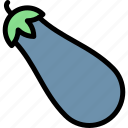 barbecue, bbq, eggplant, food, party, picnic icon