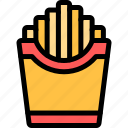 barbecue, bbq, food, french, fries, party, picnic icon
