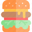 barbecue, bbq, cheeseburger, food, party, picnic icon