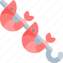 barbecue, bbq, food, party, picnic, shrimp icon