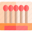 barbecue, bbq, food, matches, party, picnic icon