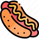 barbecue, bbq, food, hotdog, party, picnic icon