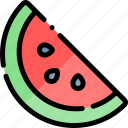 barbecue, bbq, food, party, picnic, watermelon icon