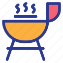 barbecue, party, stove, tools icon
