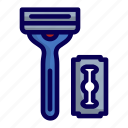 beard, man, razor, shaving icon