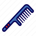 barber, comb, hair icon