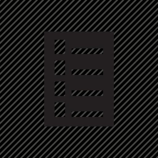 checklist, list, note, tick icon