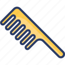 hair, hairdressing, salon, styling, tail comb, tool, wide tooth