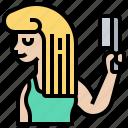 brush, care, comb, hair, hairdresser