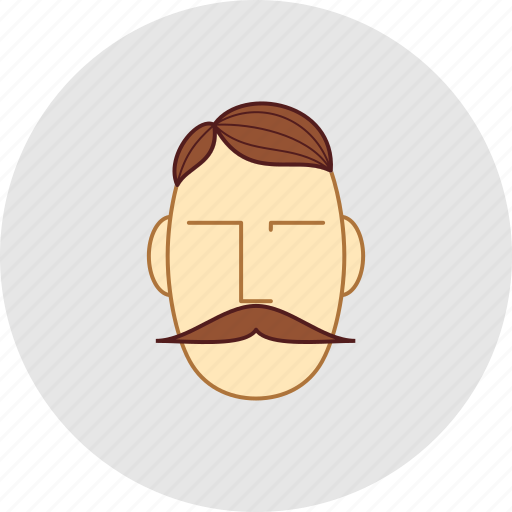 barber, cutting, flatstyle, mustache, shop icon