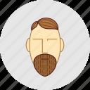 barber, beard, cutting, flatstyle, shop icon