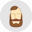 barber, beard, cutting, flatstyle, forelock, mustache, shop icon