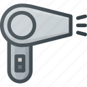 barber, care, hairdryer, male, shop icon