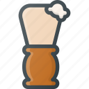 barber, brush, care, male, shaving, shop, tool icon