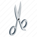 steel, isometric, cut, shears, discount, scissor, background