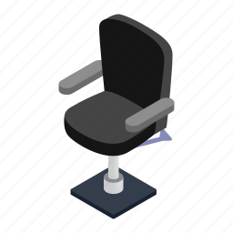 barber, chair, design, hair, isometric, salon, shop icon