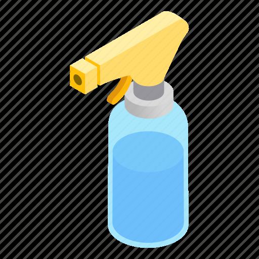 bathroom, bottle, cleaning, isometric, liquid, spray, spraybottle icon