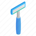 barber, blade, isometric, knife, razor, shaver, tool icon