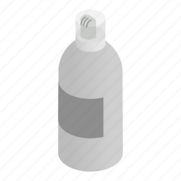 box, design, gel, hair, isometric, lotion, shampoo icon