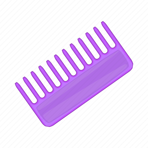care, cartoon, comb, hair, hairbrush, sign, toothed icon
