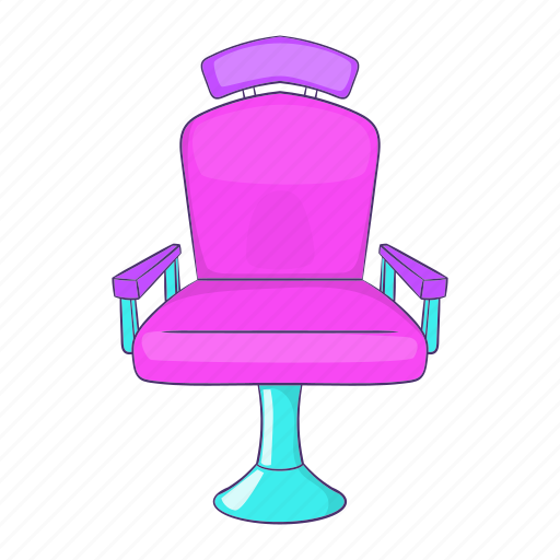 barber, cartoon, chair, haircut, hairdresser, sign, turning icon