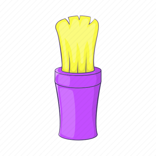 brush, care, cartoon, clean, shaving, sign, stick icon