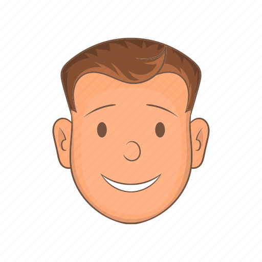 cartoon, face, head, male, person, sign, user icon