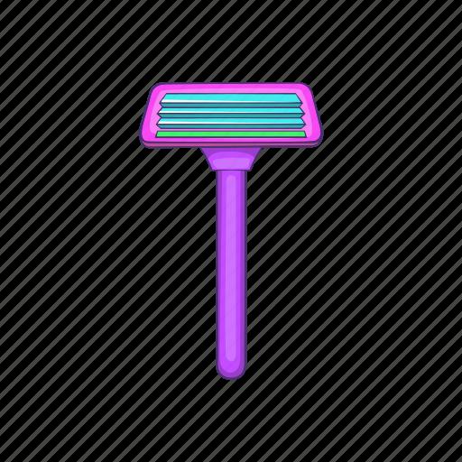 blade, cartoon, cut, razor, sharp, shave, sign icon