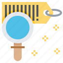 barcode, check, data, label, product, scan, search icon