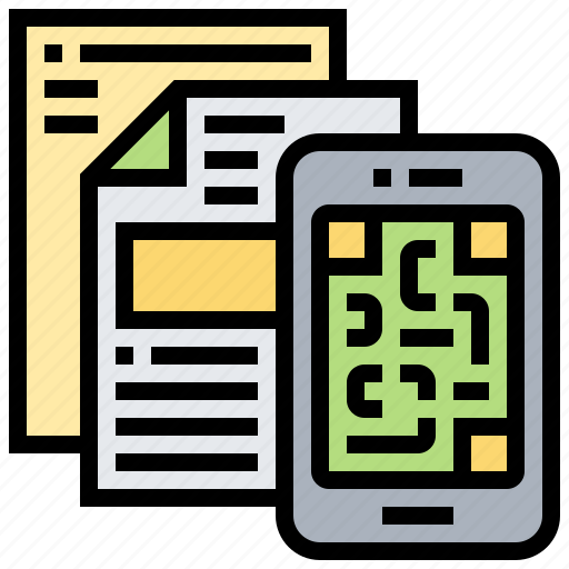 code, document, qr, scan, smartphone icon
