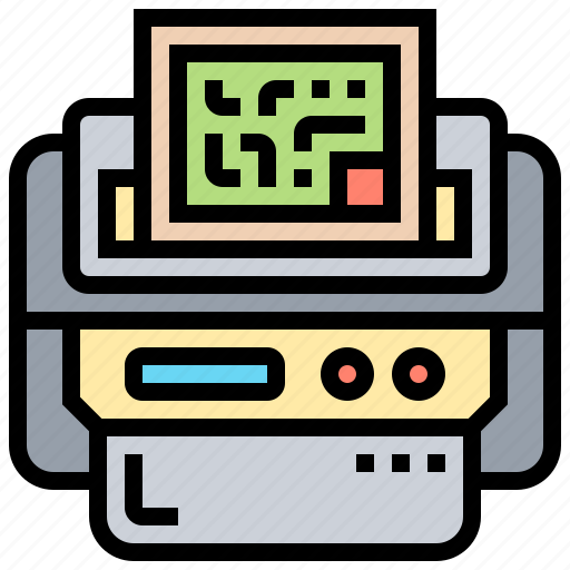 code, device, generator, printer, qr icon