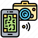 code, connection, information, qr, reader icon