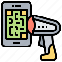code, payment, qr, scanner, smartphone icon