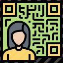 account, information, membership, qr, user