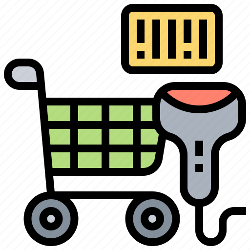 barcode, payment, price, scanner, shopping icon