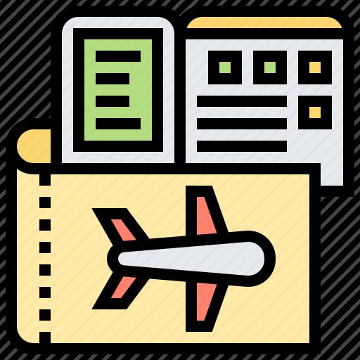 barcode, flight, information, scan, ticket icon