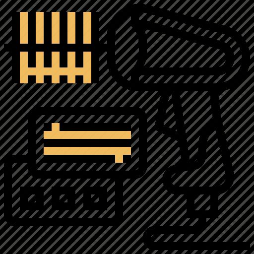 barcode, checkout, laser, reader, scanner icon
