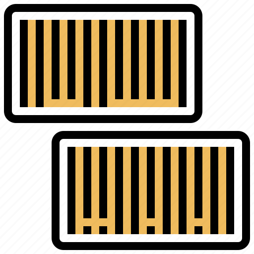 barcodes, identification, label, product, type icon