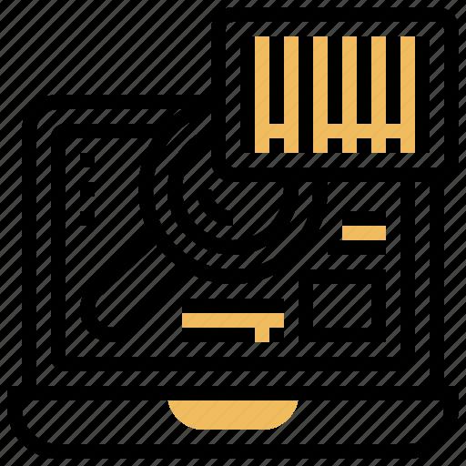 barcodes, generator, online, program, service icon